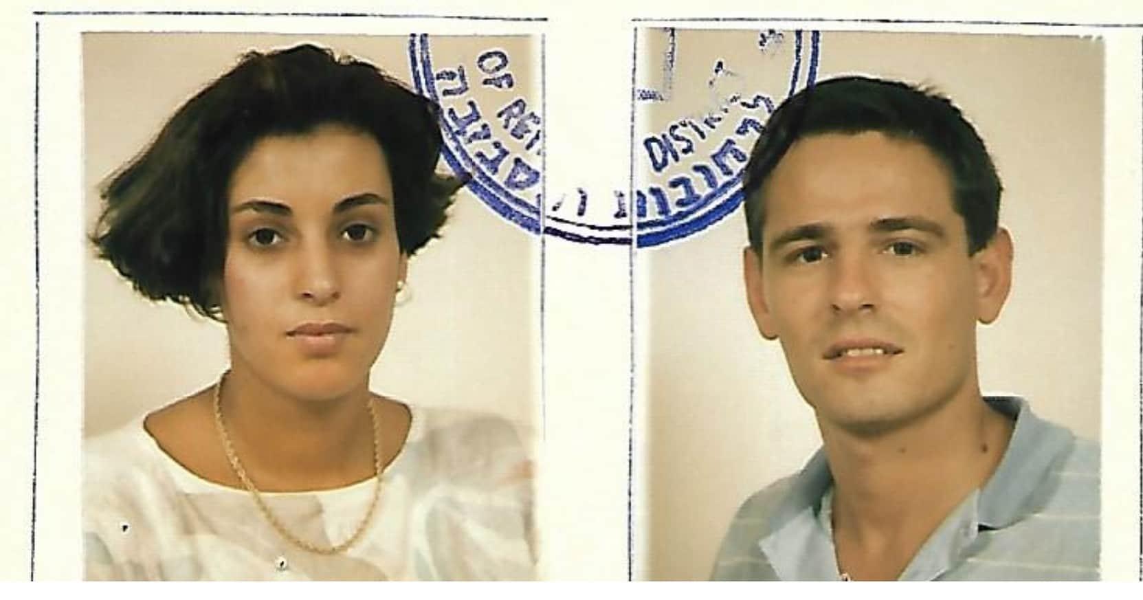 אסנת וחגי שלו בתעודת הנישואין 1986
